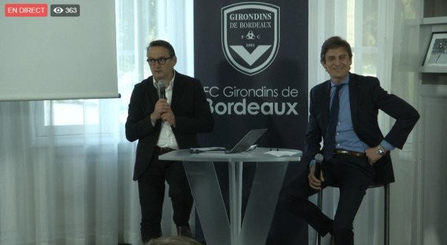 Anthony Thiodet, responsable de la billetterie et Frédéric Longuépée, le président des Girondins.