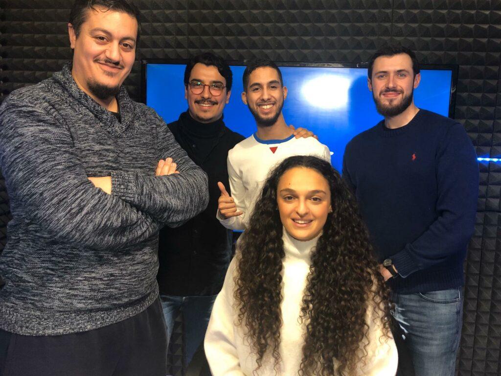 L'équipe des Prolongations avec Lina Boussaha