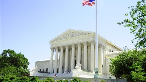 Photo de la cour suprême des Etats-Unis d'Amérique.