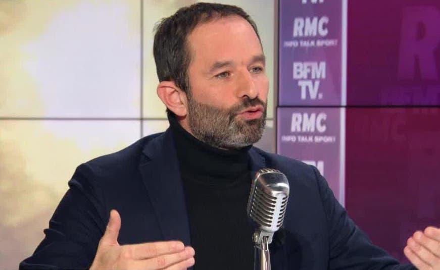 Benoît Hamon au micro de Jean-Jacques Bourdin