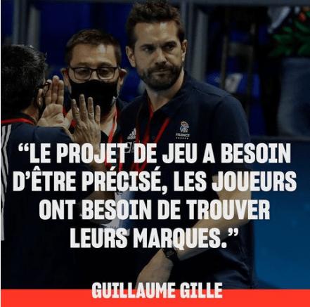 Le sélectionneur de l'équipe de Handball masculine, Guillaume Gille, à propos du match France Serbie (05.01.2021)