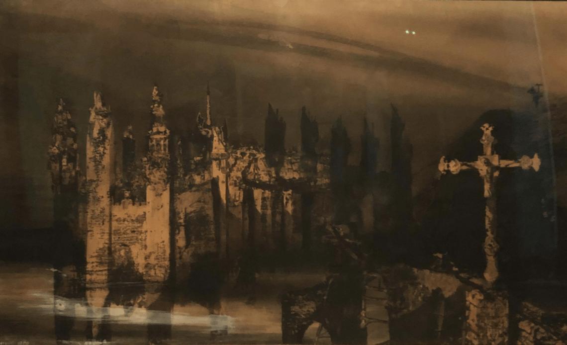 Victor Hugo, Le Burg à la Croix (1850), © Valentin Thibier