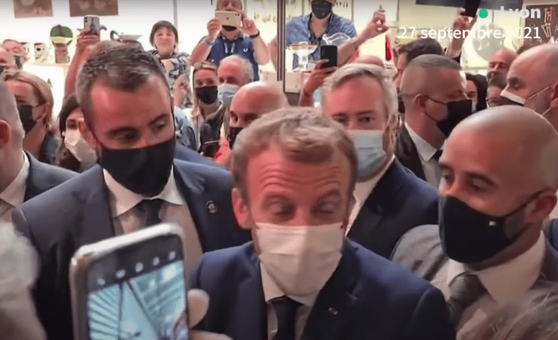 oeuf Emannuel Macron Lyon
